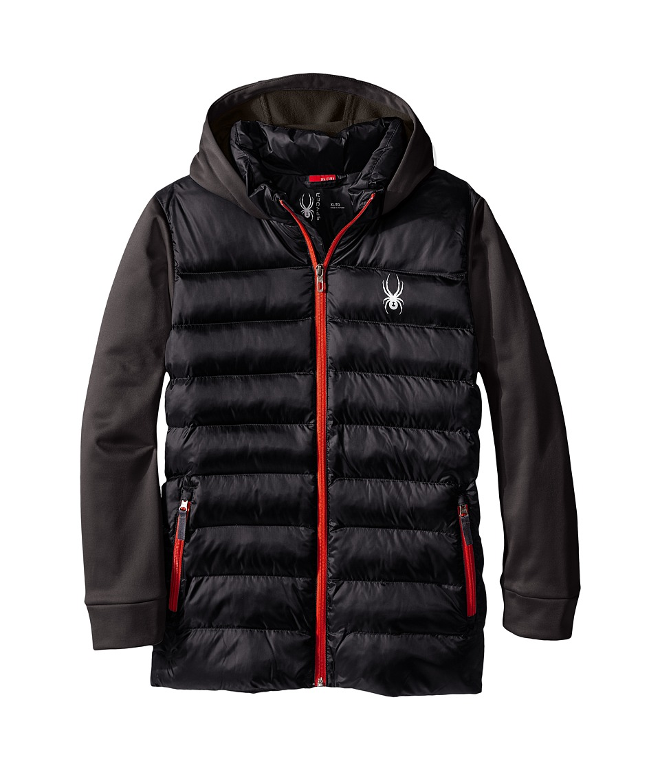 Spyder Kids - Mt. Elbert Synthetic Down Jacket (Little Kids/Big Kids) (Black/Polar/Red) Boy's Coat