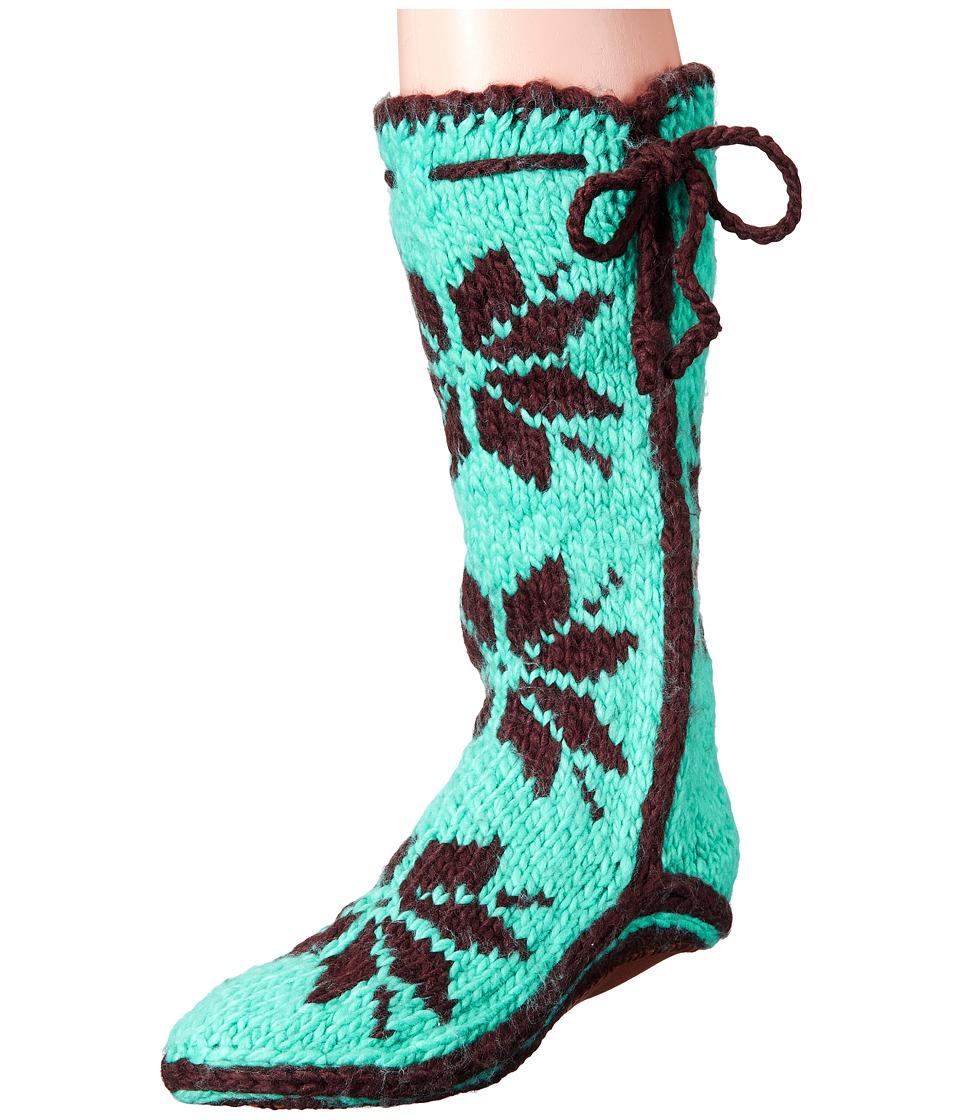 Woolrich - Chalet Sock (Turquoise) Women's Slippers