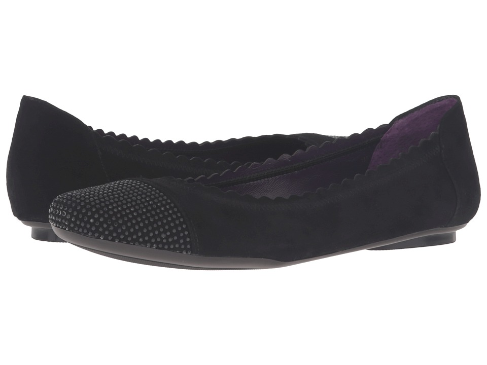Vaneli - Bunnie (Black Suede/Black Nails) Women's Flat Shoes