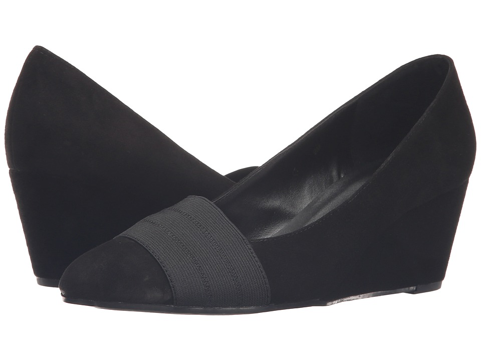 Vaneli - Danil (Black Suede) Women's Wedge Shoes