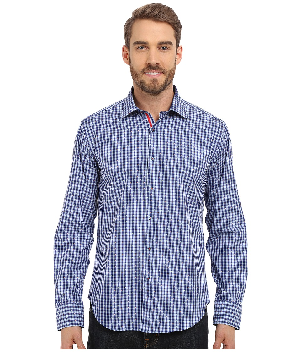 BUGATCHI - The Richard Shaped Fit Long Sleeve Woven Shirt (Midnight) Men's Long Sleeve Button Up