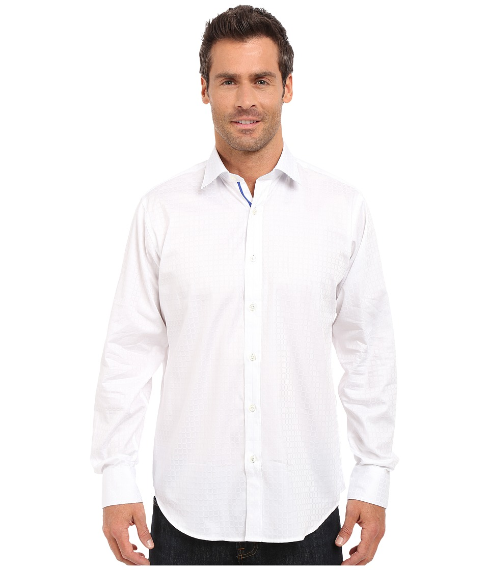 BUGATCHI - The James Classic Fit Long Sleeve Woven Shirt (White) Men's Long Sleeve Button Up