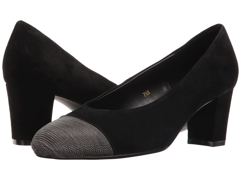 Vaneli Dank (Black Suede/Pewter Chain) Women