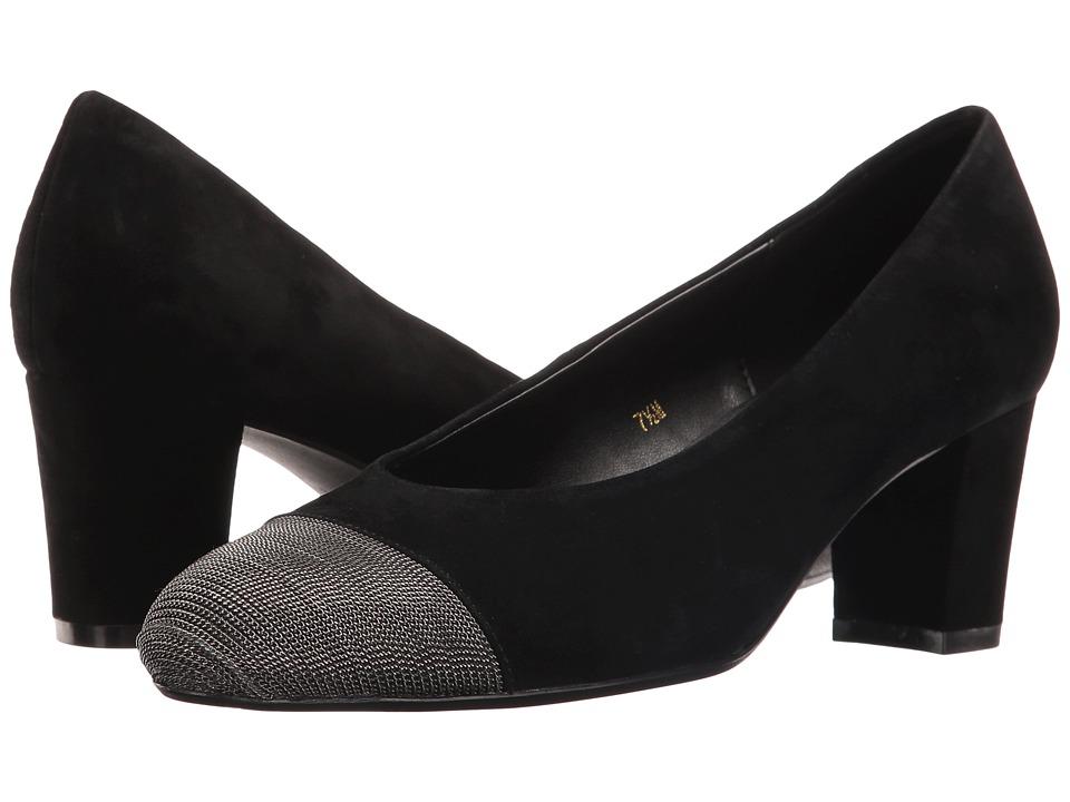 Vaneli - Dank (Black Suede/Pewter Chain) Women's 1-2 inch heel Shoes