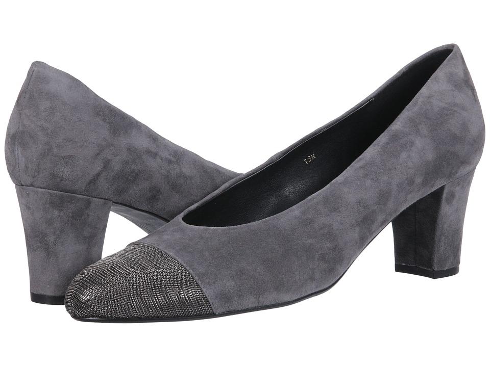 Vaneli - Dank (Grey Suede/Pewter Chain) Women's 1-2 inch heel Shoes