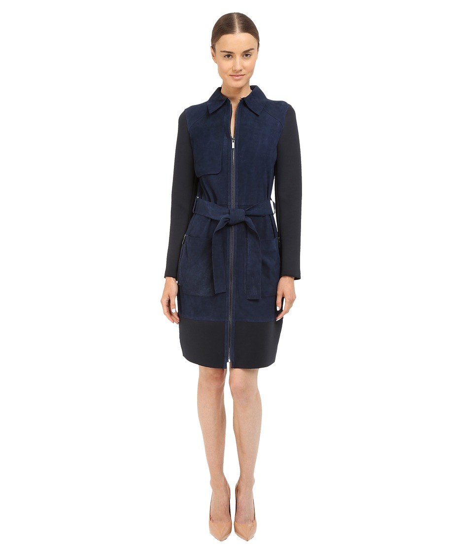 ZAC Zac Posen - Beverly Trench (Navy) Women's Coat