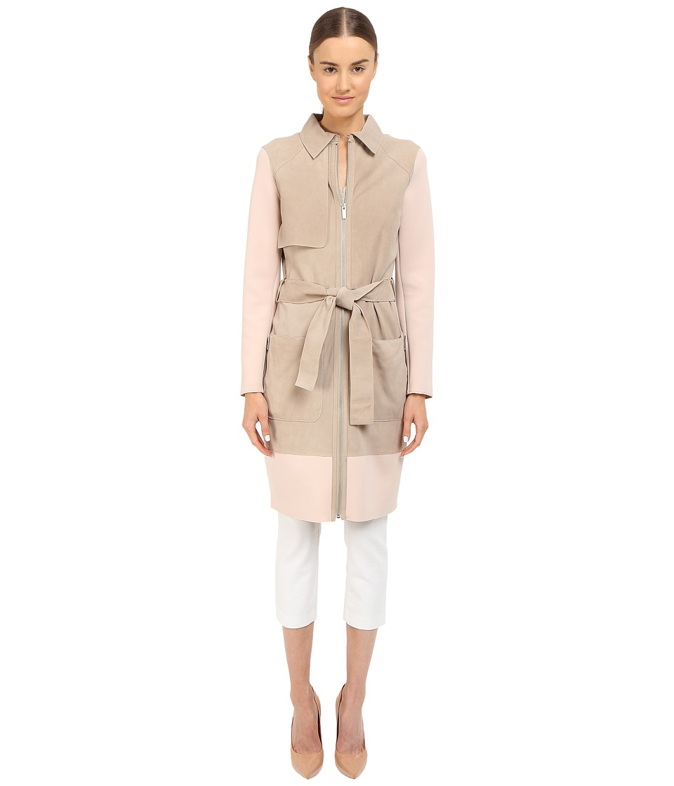 ZAC Zac Posen - Beverly Trench (Sand/Blush) Women's Coat