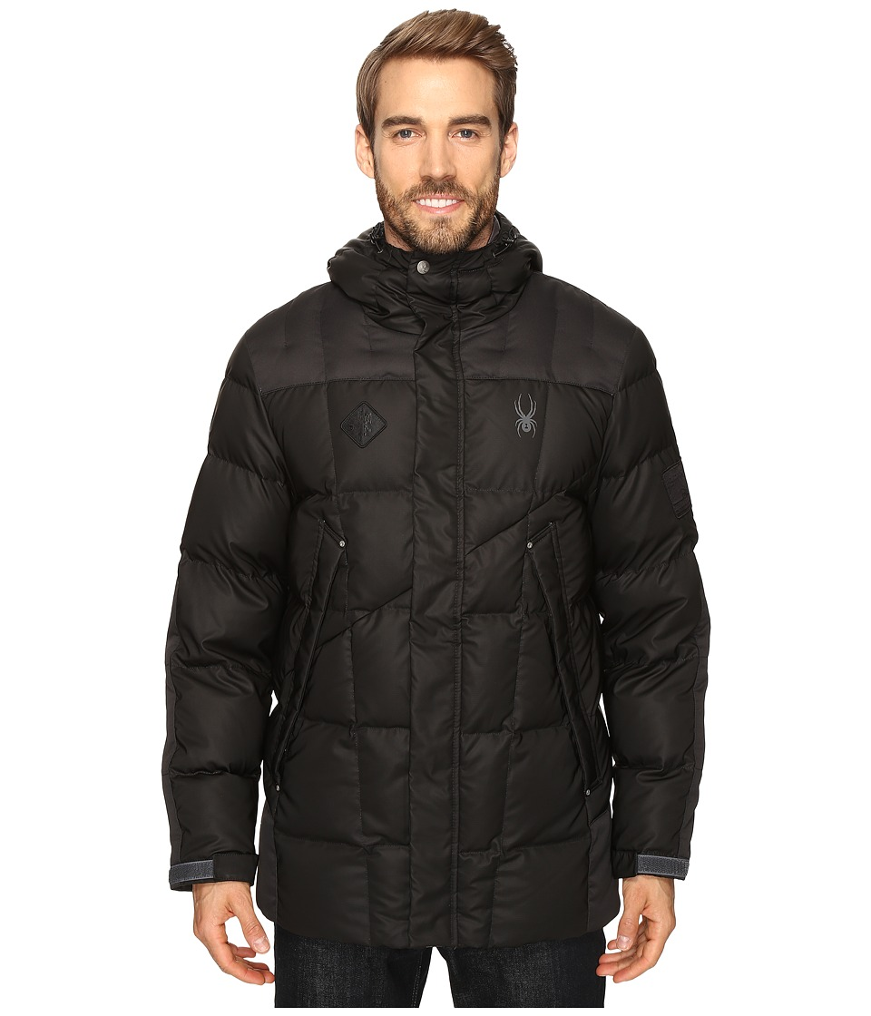 Spyder - Diehard Down Jacket (Black/Polar) Men's Coat
