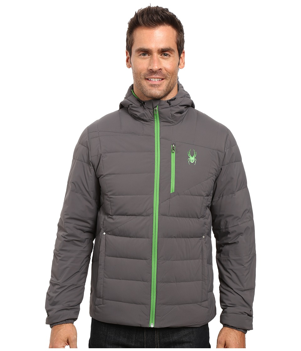 Spyder - Dolomite Hoodie Down Jacket (Polar/Blade) Men's Coat
