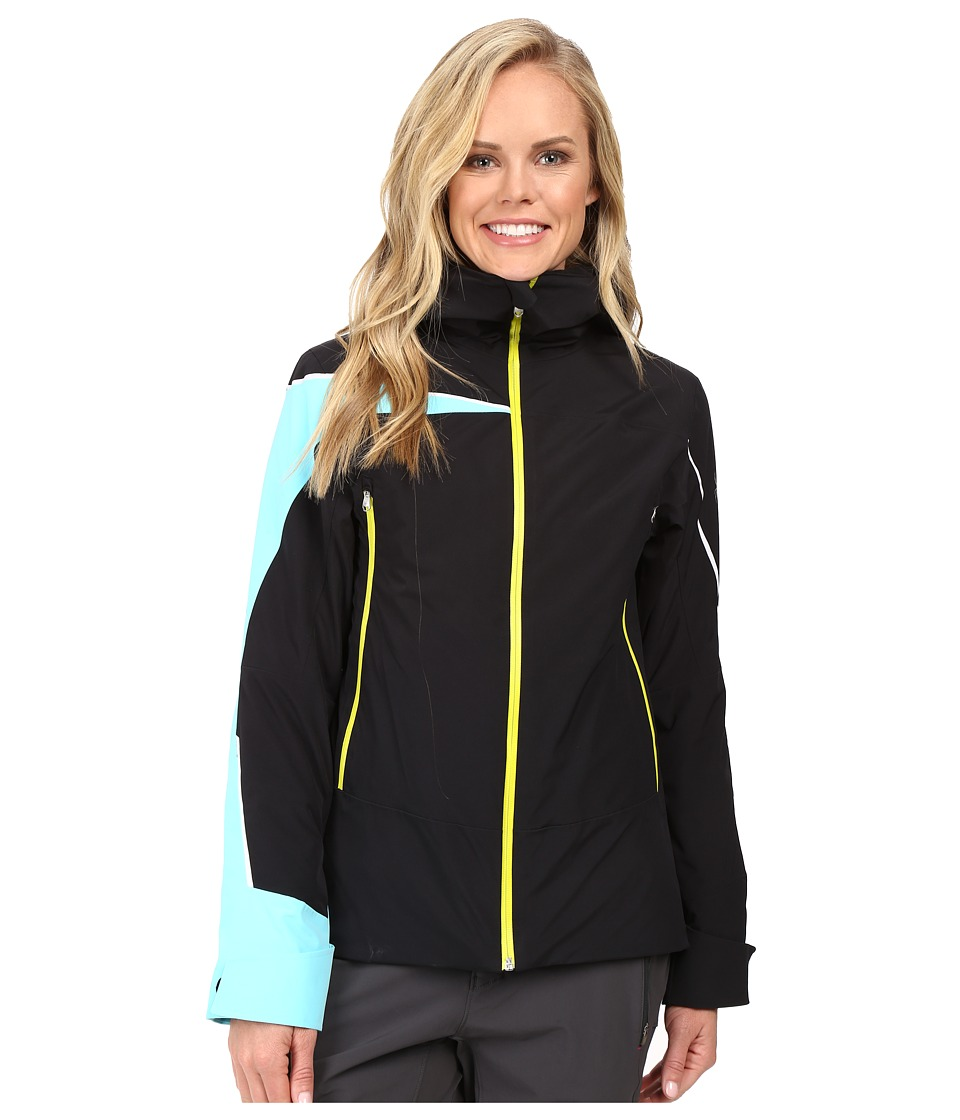 Spyder - Syncere Jacket (Black/Freeze/Acid) Women's Coat