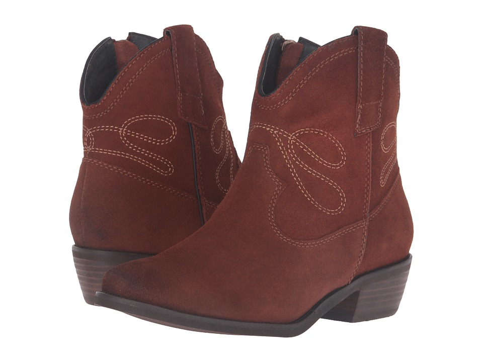 Vaneli - Epium (Rust Calf Suede/Light Tan Embroidery) Women's Pull-on Boots