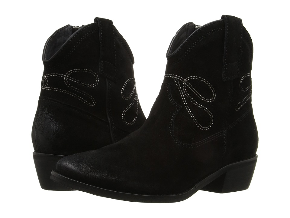 Vaneli - Epium (Black Calf Suede/Taupe Embroidery) Women's Pull-on Boots