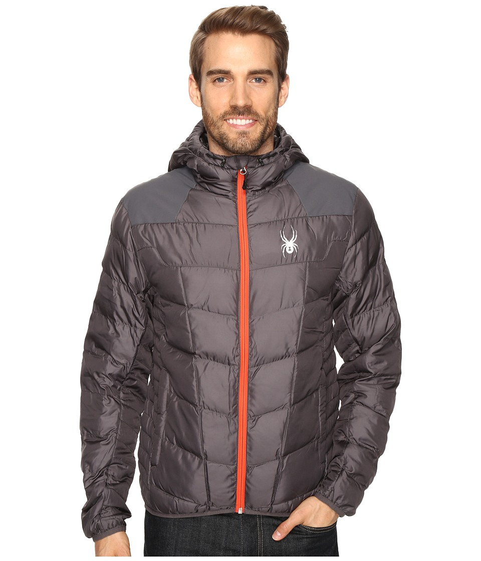 Spyder - Geared Hoody Synthetic Down Jacket (Polar/Polar/Rage) Men's Jacket