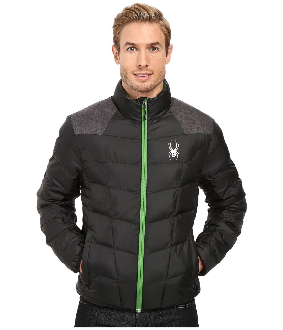Spyder - Geared Synthetic Down Jacket (Black/Polar Crosshatch/Blade) Men's Jacket