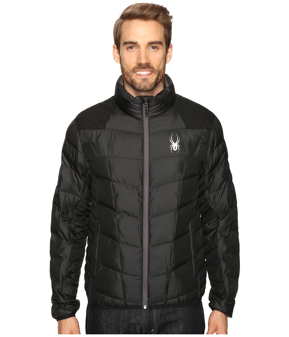 Spyder - Geared Synthetic Down Jacket (Black/Black/Polar) Men's Jacket