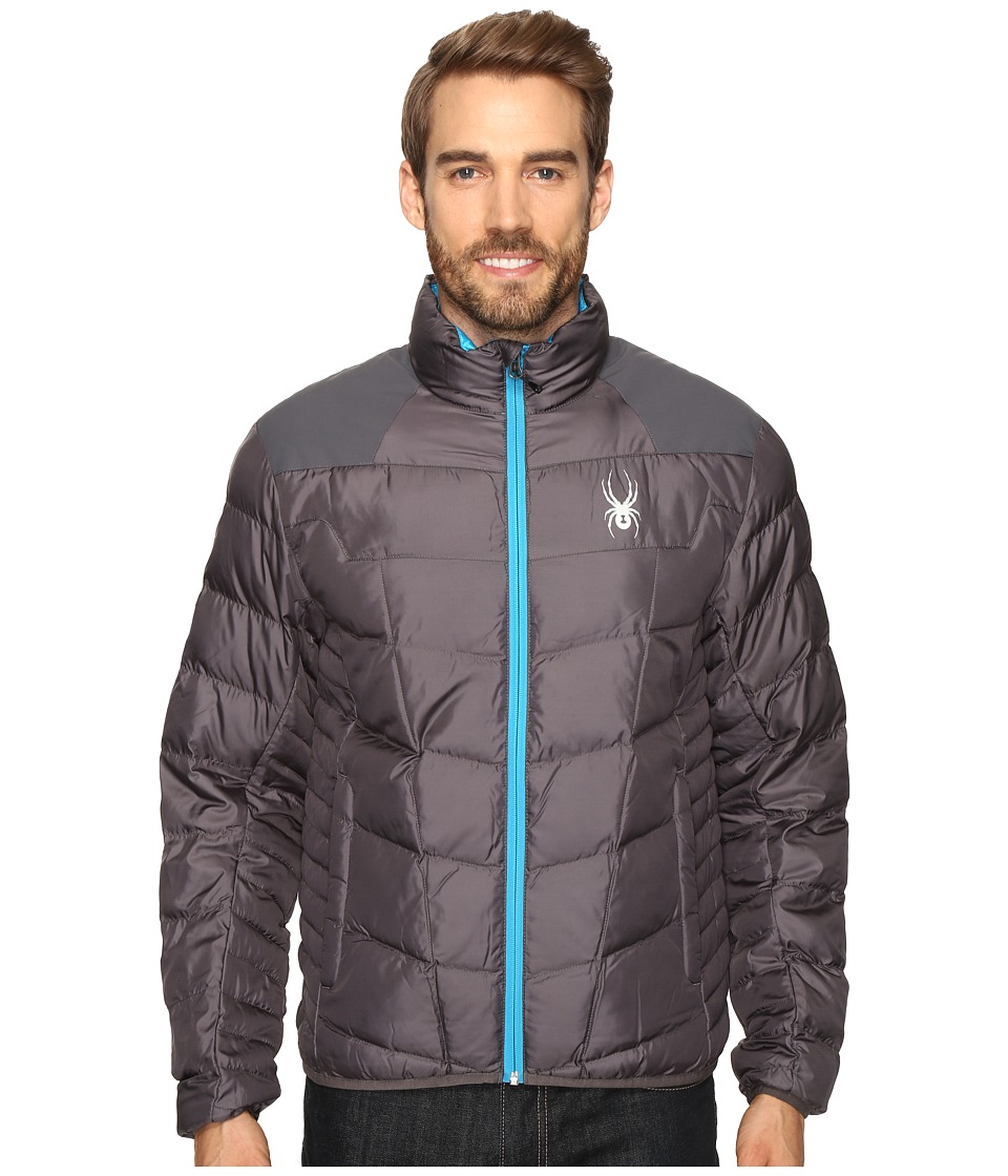 Spyder - Geared Synthetic Down Jacket (Polar/Polar/Electric Blue) Men's Jacket