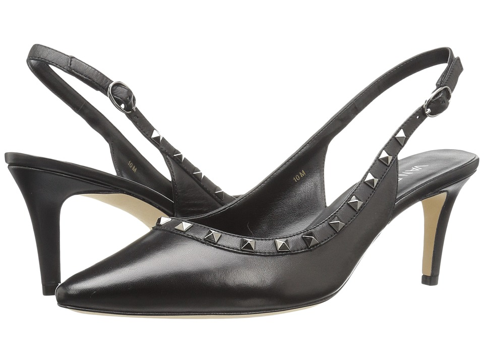 Vaneli Harriet (Black Nappa/Gunmetal Trim) High Heels