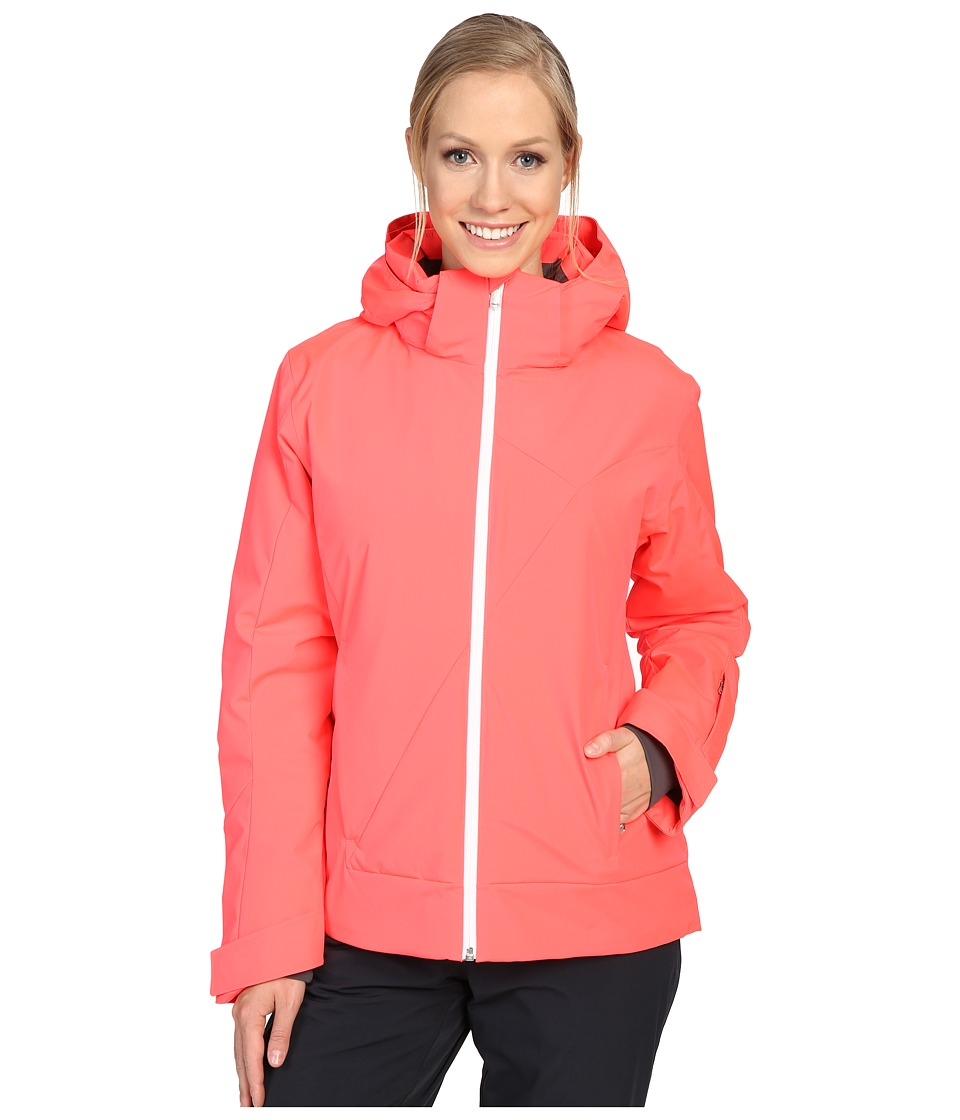 Spyder - Amp Jacket (Black/Bryte Pink/White) Women's Coat