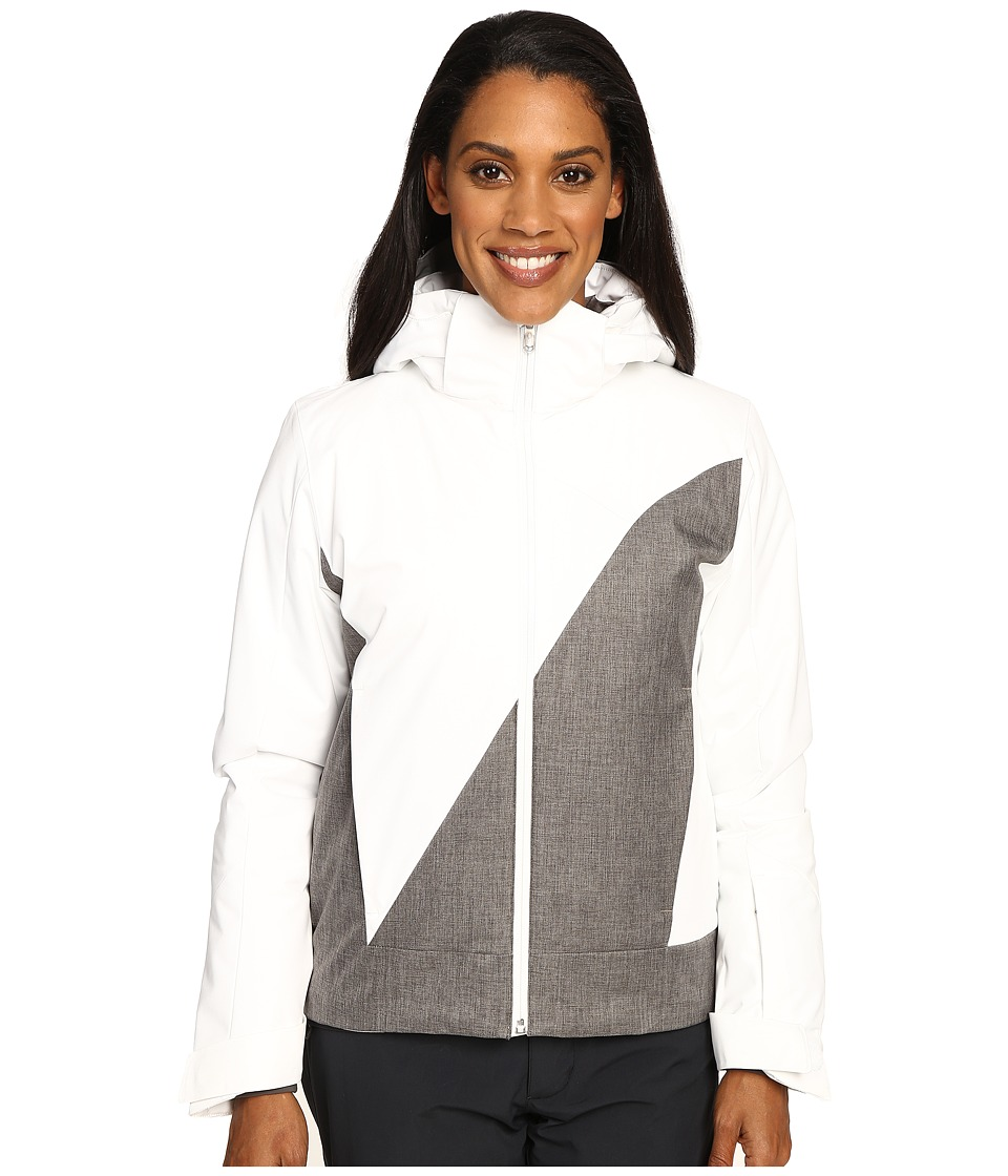 Spyder - Amp Jacket (White/Weld Crosshatch/White) Women's Coat