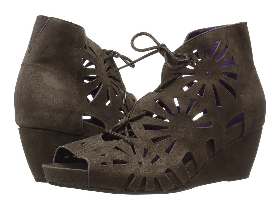 Vaneli - Iolana (Fango Suede/Match Lace) Women's Wedge Shoes