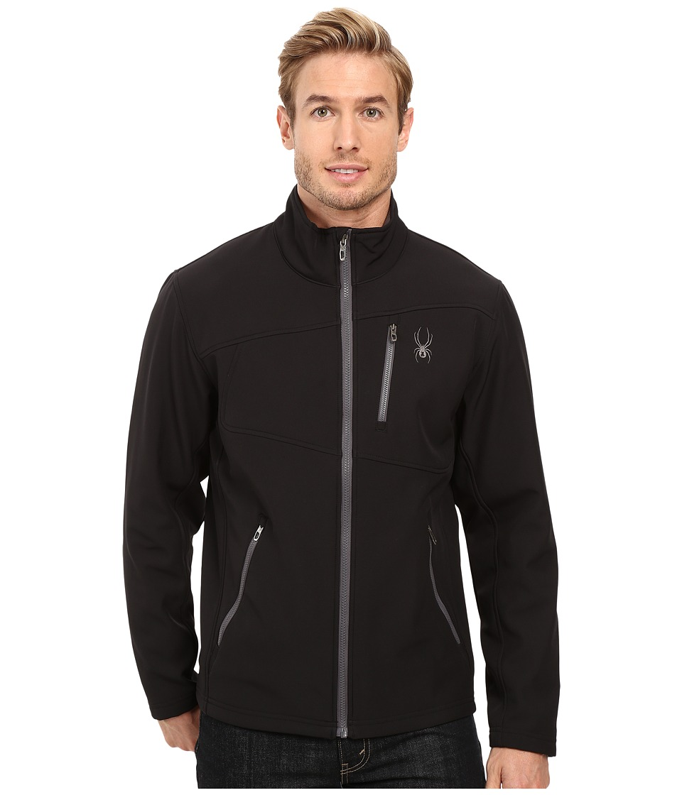 Spyder - Fresh Air Softshell Jacket (Black/Polar) Men's Coat