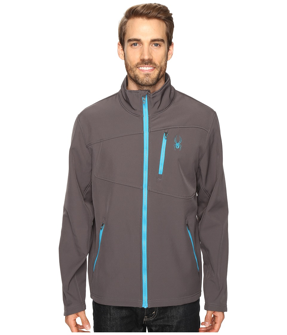 Spyder - Fresh Air Softshell Jacket (Polar/Electric Blue) Men's Coat