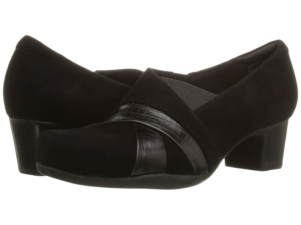 Clarks - Rosalyn Adele (Black Suede) High Heels