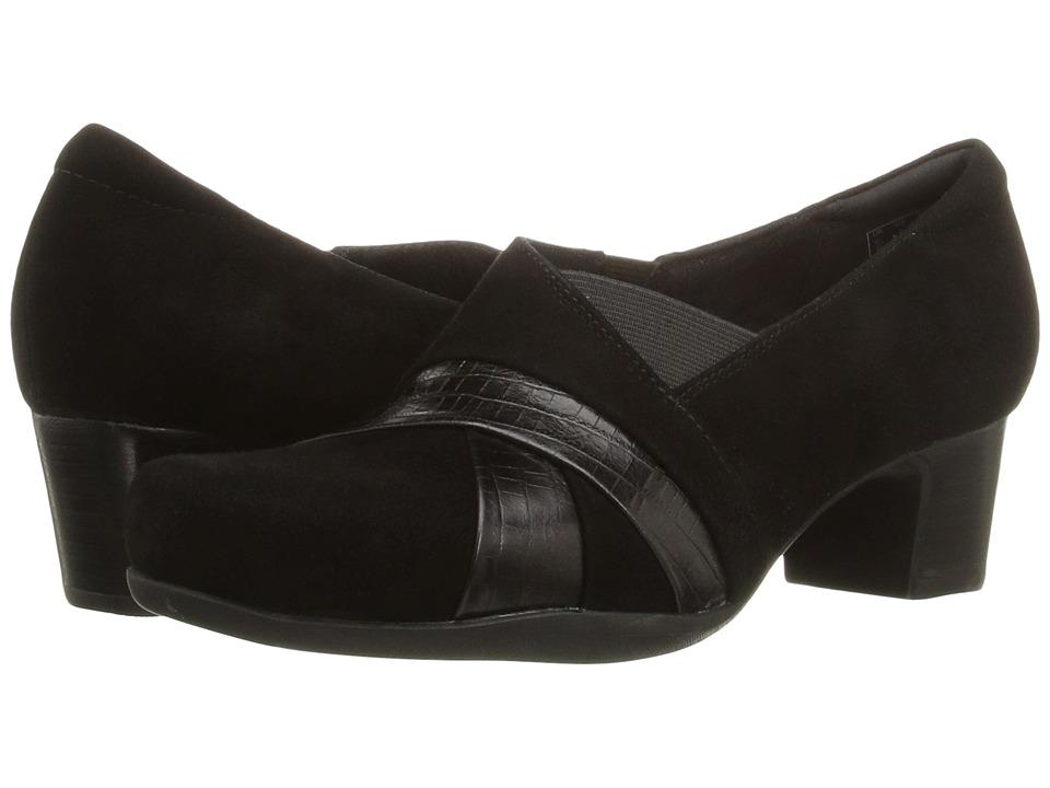 Clarks - Rosalyn Adele (Black Suede) High Heels