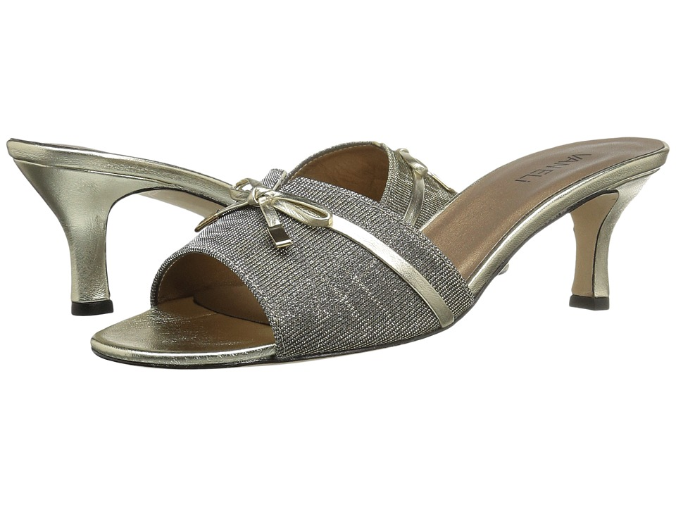 Vaneli - Magod (Platinum Nizza Fabric/Platino Metallic Napa/Gold Tip) Women's Shoes