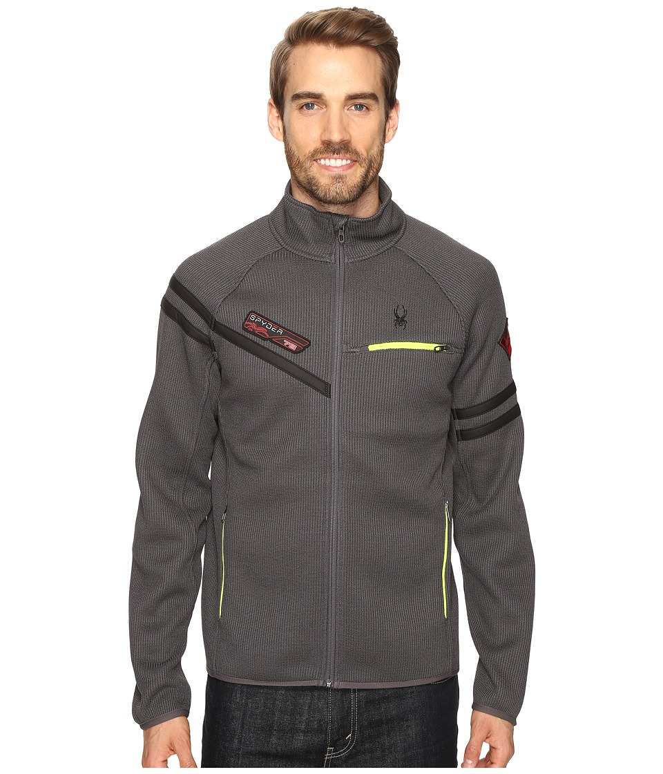 Spyder - Alps Full Mid Weight Core Sweater (Polar/Bryte Yellow) Men's Sweater