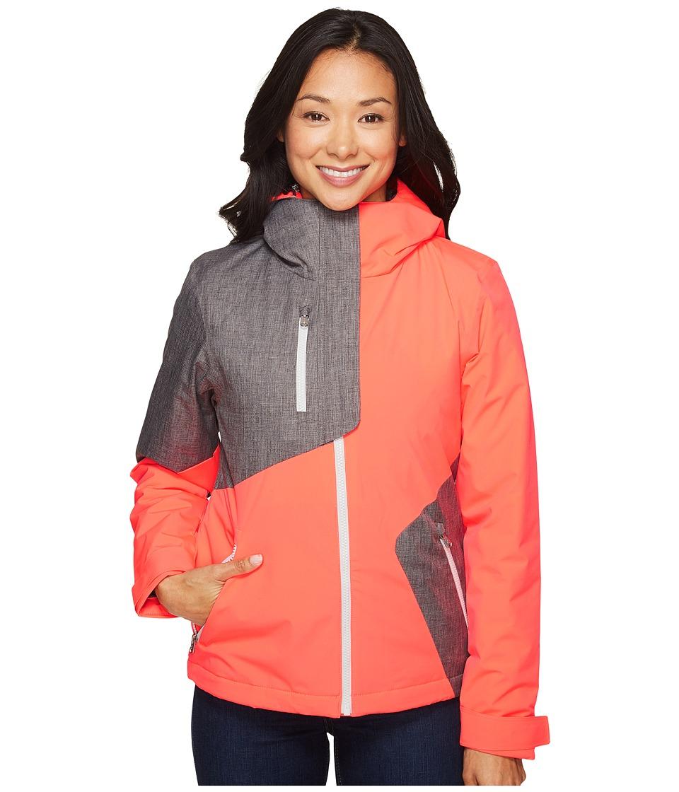 Spyder - Avery Jacket (Bryte Pink/Weld Crosshatch/Bryte Pink) Women's Coat