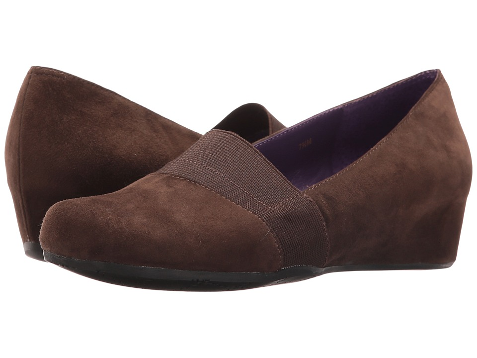 Vaneli - Mambo (Fango Suede/Match Elastic) Women's Wedge Shoes