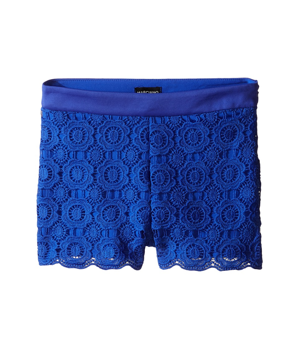 Marciano Kids - Lace Shorts w/ Pleather Trim (Big Kid) (Royal Blue) Girl's Shorts