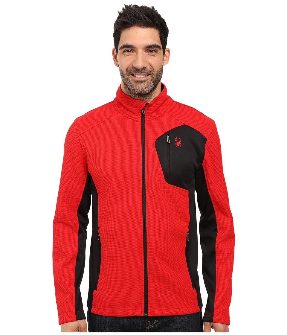 Spyder - Bandit Full Zip Fleece Top (Red/Black) Men's Fleece