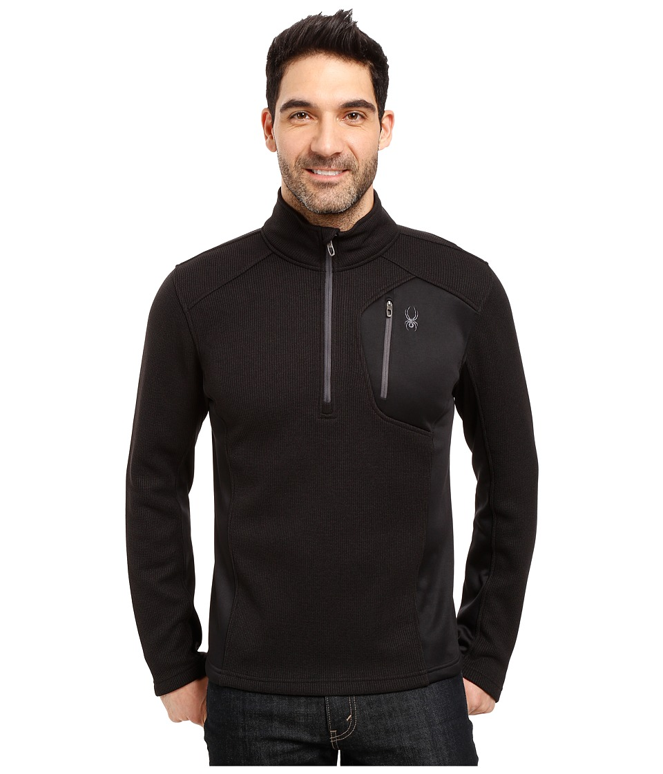 Spyder - Bandit Half Zip Fleece T-Neck (Black/Polar) Men's Fleece