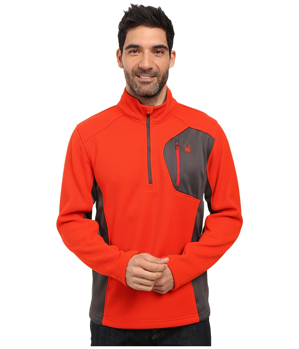 Spyder - Bandit Half Zip Fleece T-Neck (Rage/Polar/Red) Men's Fleece