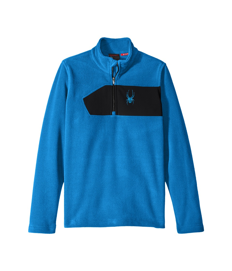 Spyder Kids - Speed Fleece Top (Little Kids/Big Kids) (Concept Blue/Black) Boy's Long Sleeve Pullover