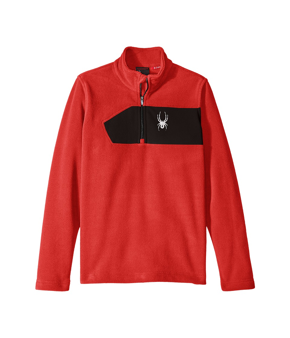 Spyder Kids - Speed Fleece Top (Little Kids/Big Kids) (Red/Black) Boy's Long Sleeve Pullover