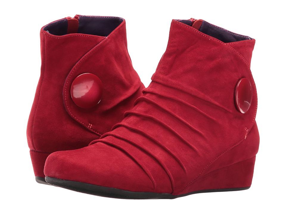 Vaneli - Mandly (Red Suede/Match Mop Button) Women's Dress Sandals