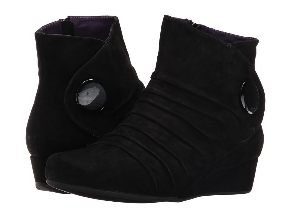 Vaneli - Mandly (Black Suede/Black Mop Button) Women's Dress Sandals