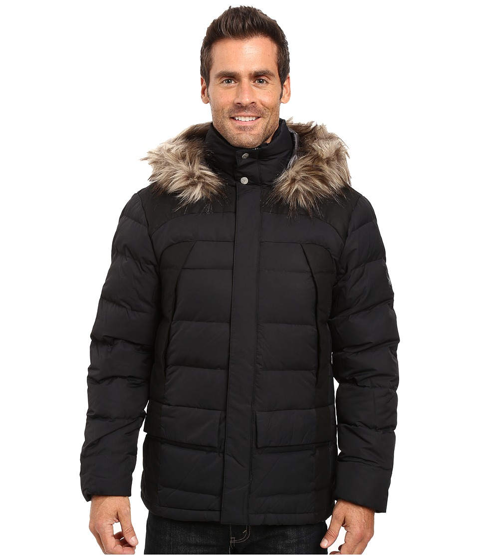 Spyder - Garrison Parka Down Jacket (Black/Black) Men's Coat