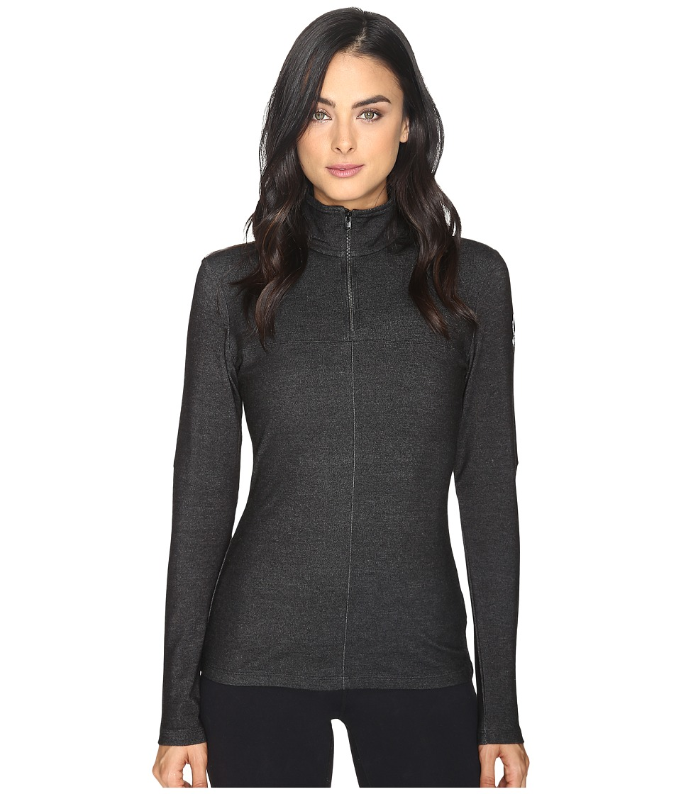 Spyder - Lapis Therma Stretch T-Neck Top (Black) Women's Long Sleeve Pullover