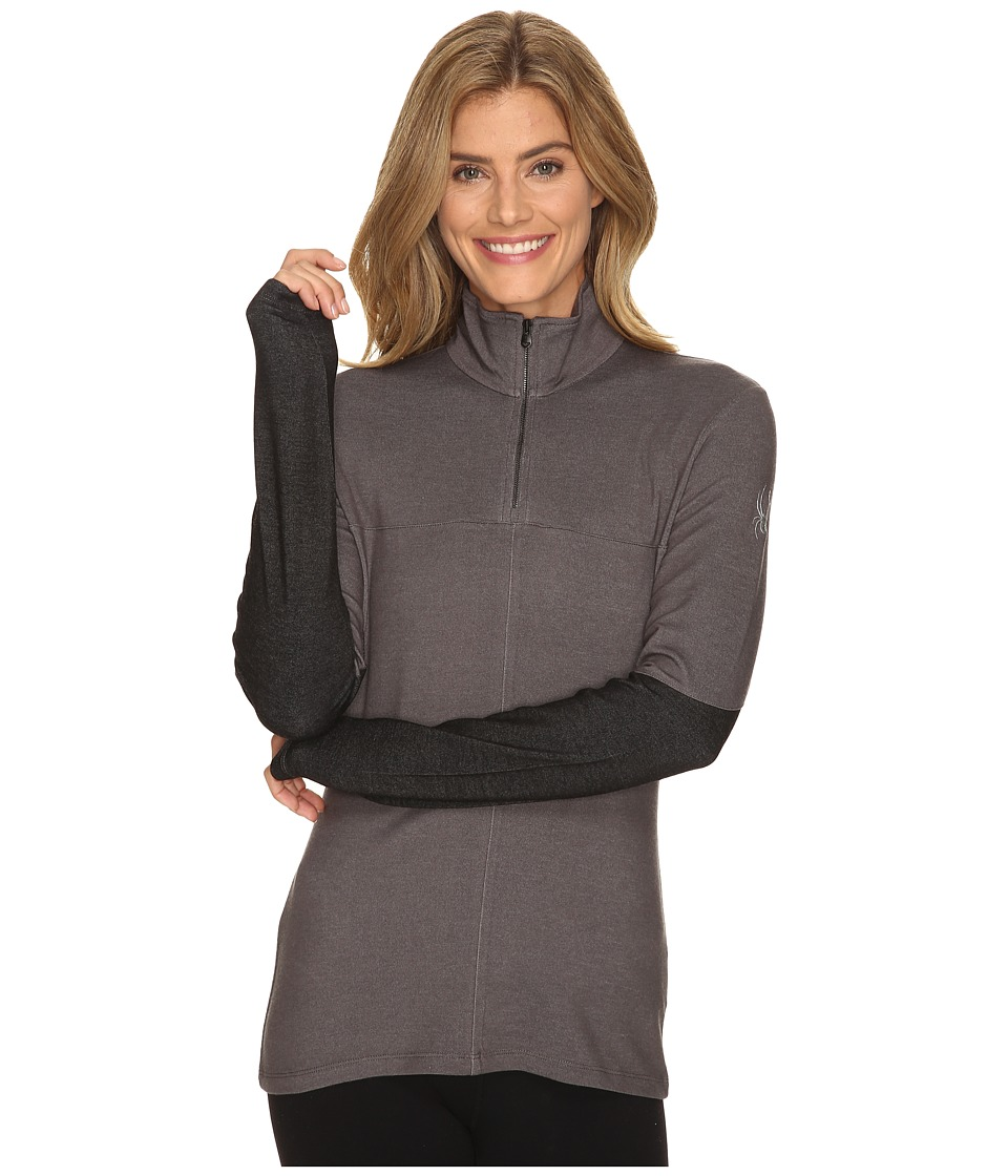 Spyder - Lapis Therma Stretch T-Neck Top (Weld) Women's Long Sleeve Pullover