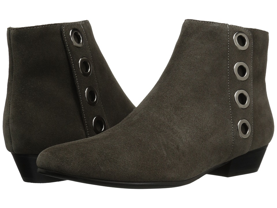 Vaneli - Mikus (Grey Calf Suede/Gunmetal Trim) Women's Pull-on Boots