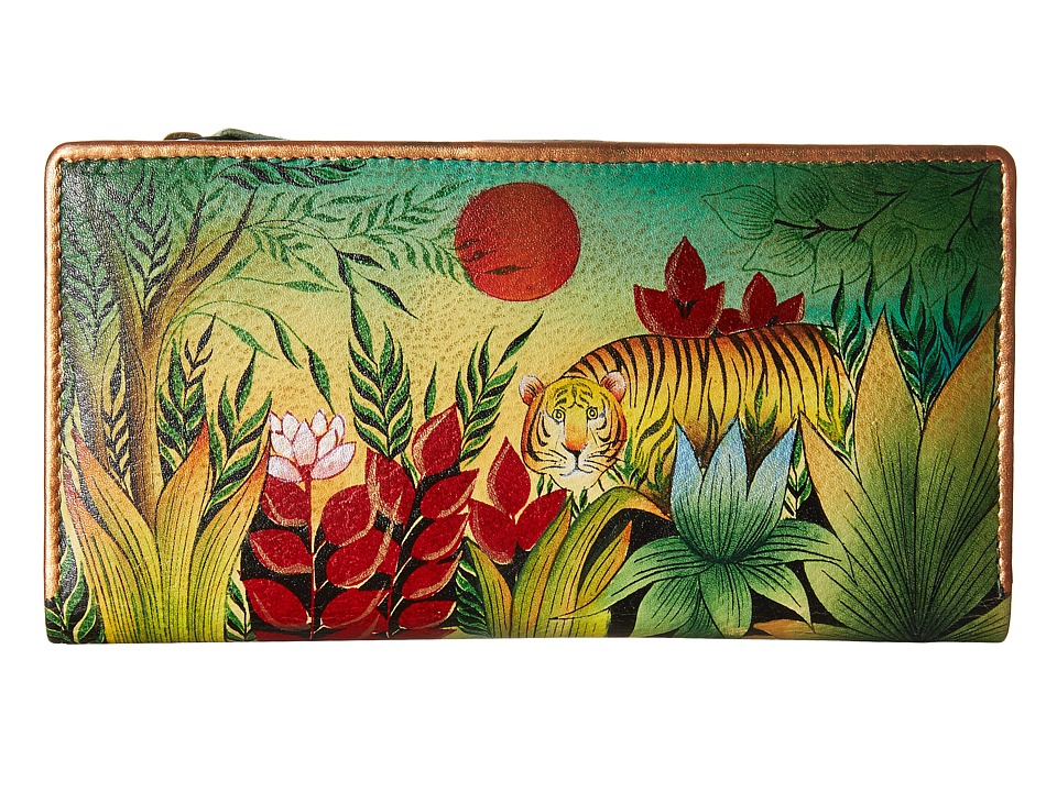 Anuschka Handbags - 1088 Clutch Wallet (Rousseau s Jungle) Clutch Handbags