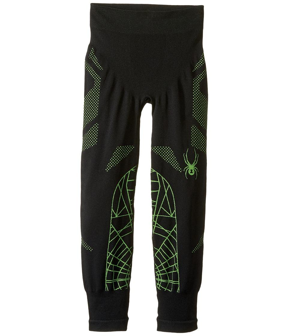 Spyder Kids - Racer Pants (Big Kids) (Black/Bryte Green) Boy's Casual Pants