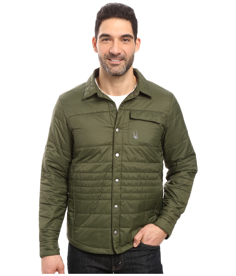 Spyder - Kerb Shirt-Jack Insulator Jacket (Albion Green/Polar) Men's Coat