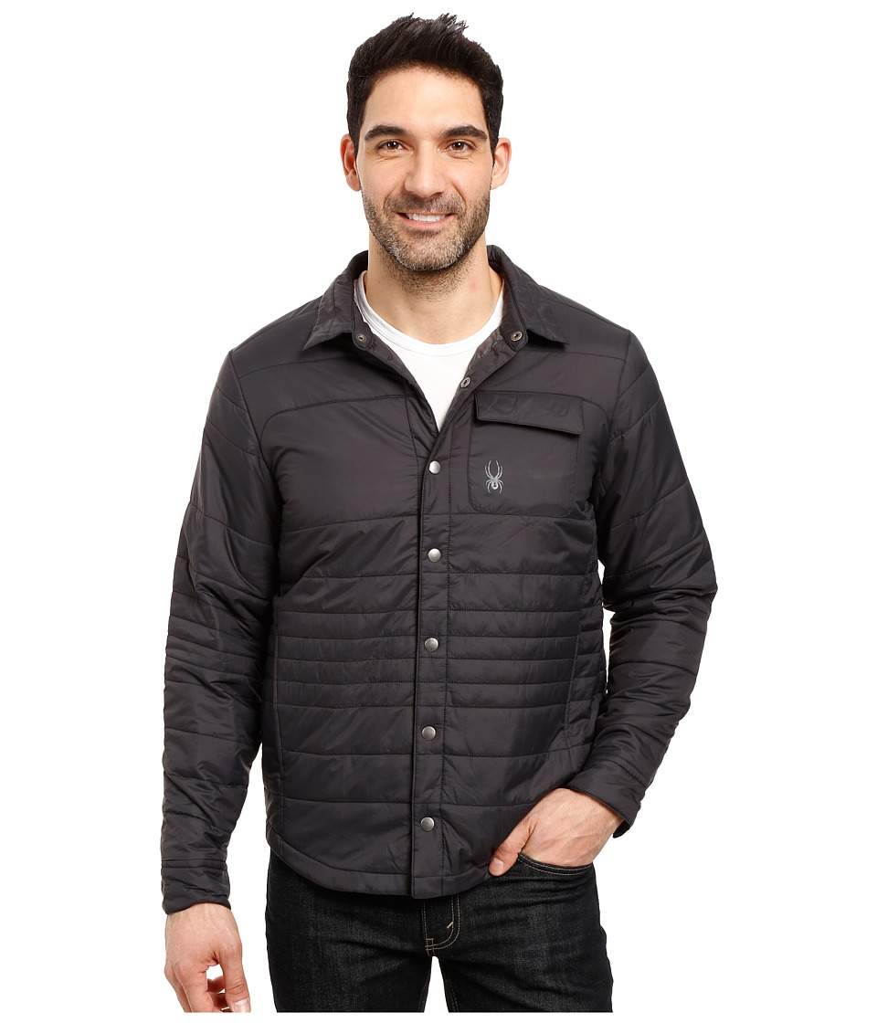 Spyder - Kerb Shirt-Jack Insulator Jacket (Black/Polar) Men's Coat
