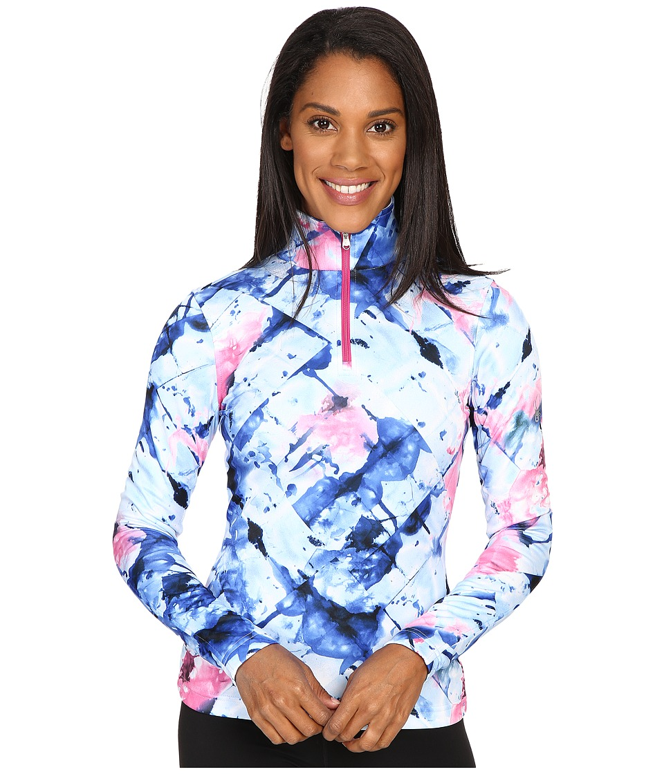 Spyder - Collection T-Neck Top (Frozen Bling Print) Women's Long Sleeve Pullover