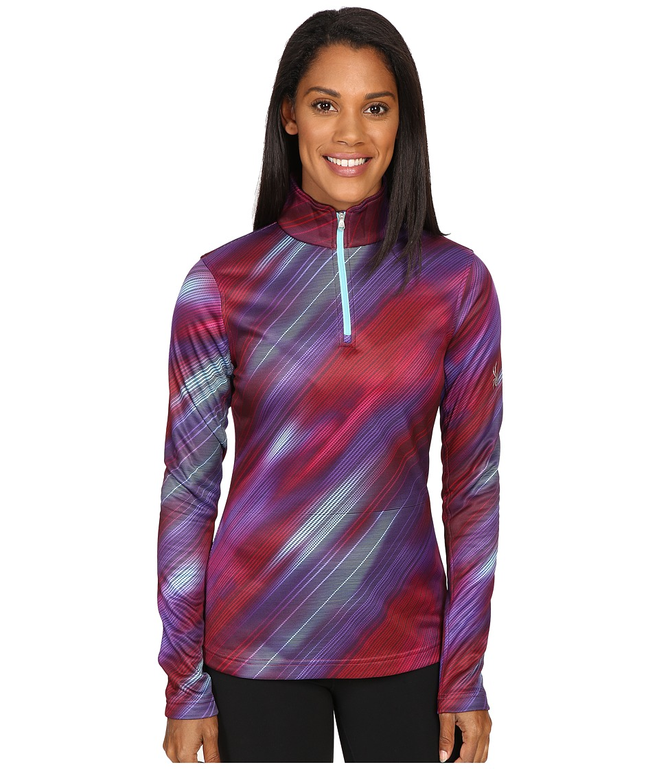 Spyder - Collection T-Neck Top (Geo Rays Voila Print) Women's Long Sleeve Pullover
